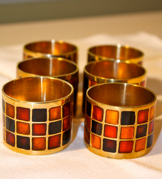 Multi Color Brass Napkin ring