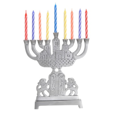 Aluminum Menorah 9 Lights