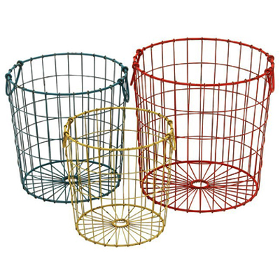 Metal Wire Basket Set of 3