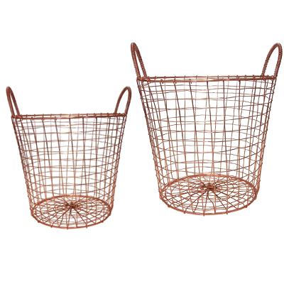 Metal Wire Copper Basket
